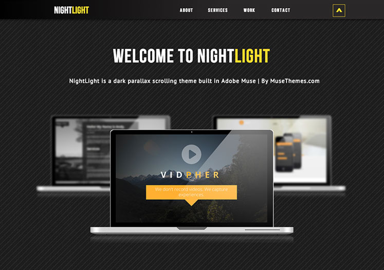 NightLight - Parallax Muse Template