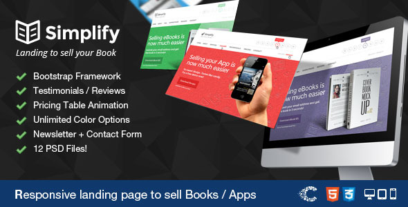 Simplify - Sell your Book - App Landing