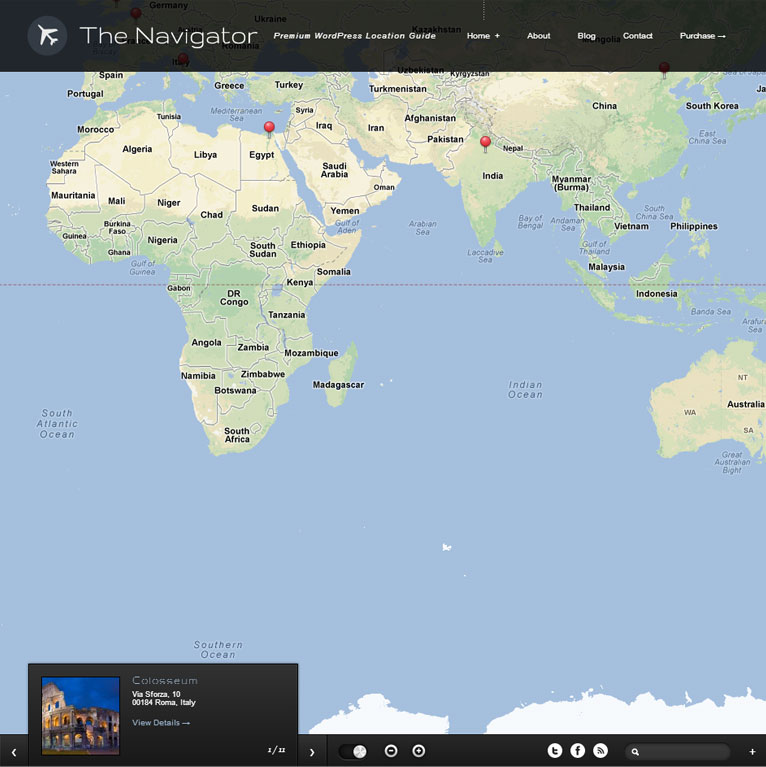 The Navigator - Premium WordPress Location App Theme
