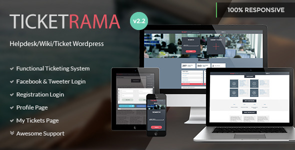 Ticketrama - WordPress Helpdesk - Ticket - Support