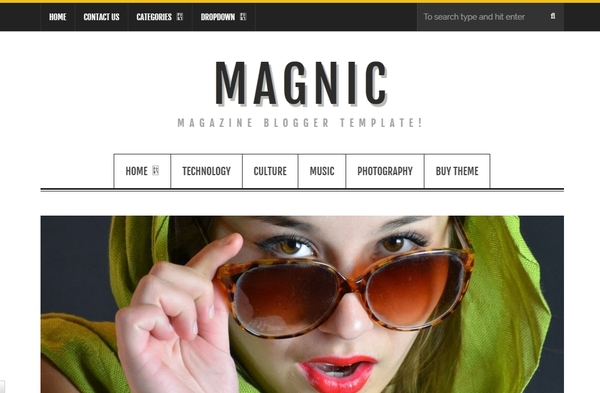Magnic Magazine Responsive Blogger Template