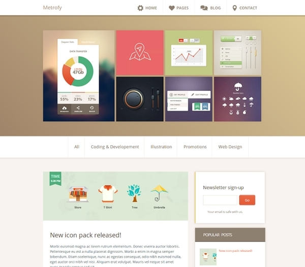 Metrofy Blogger Template