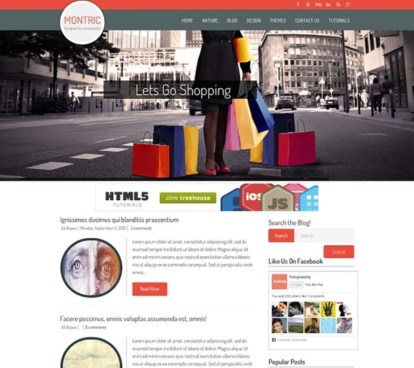 Montric Magazine Blogger Template