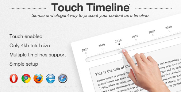 Touch jQuery Timeline Plugin