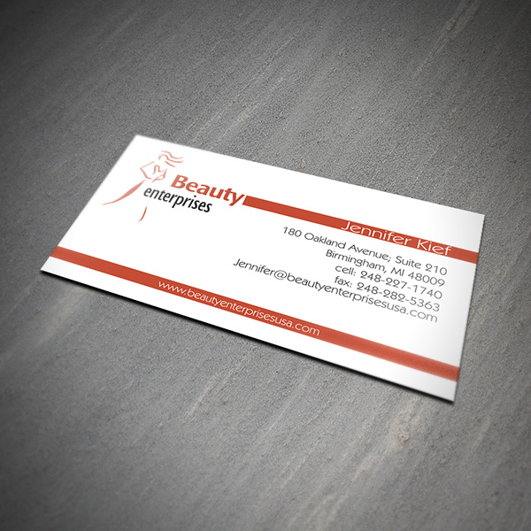 Beauty Enterprises Card Design