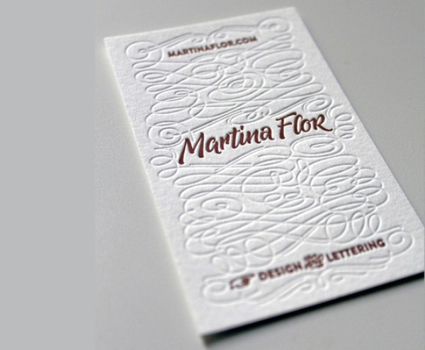 Brush Lettering Business Card