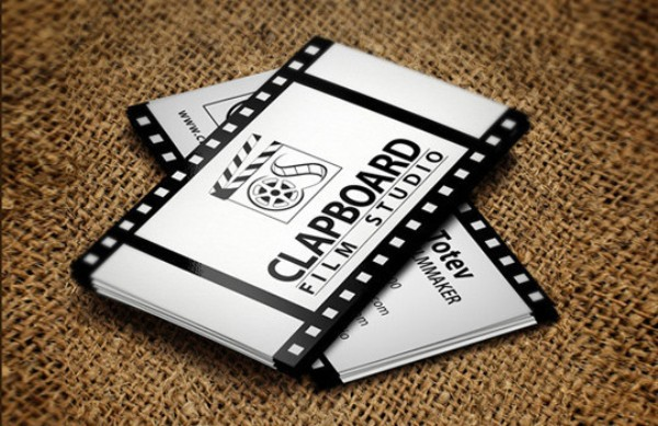 Clapboard Film Studio business cards
