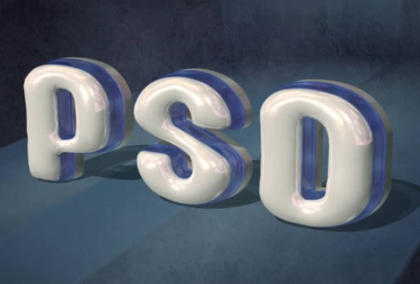 Create Glossy Plastic 3D Text in Photoshop CS5 Extended