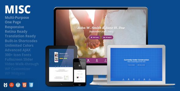 MISC - Multi-Purpose One-Page Responsive WP Theme