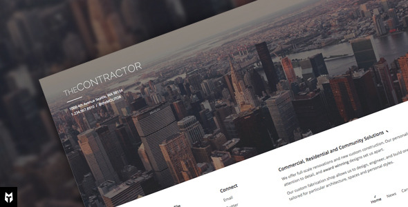 The Contractor - Construction Company WP Theme