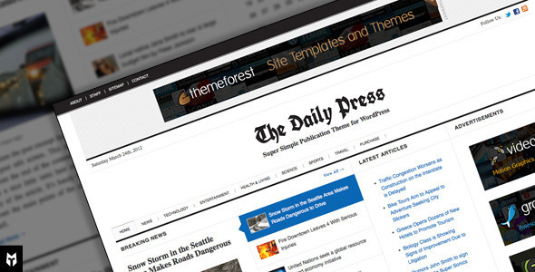 The Daily Press - Super Simple WP Publication Theme