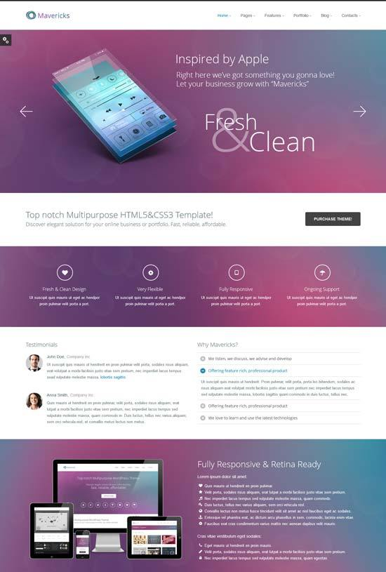 Mavericks Business and Portfolio Web Template
