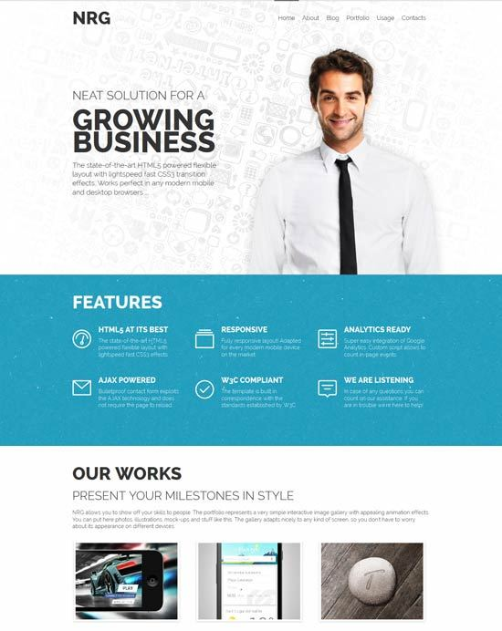 NRG – Responsive Business HTML Template
