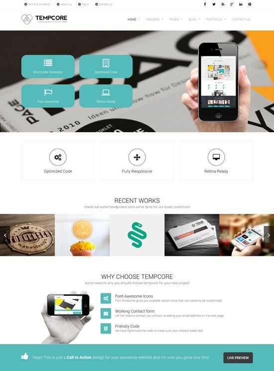 Tempcore – Business HTML5 Template