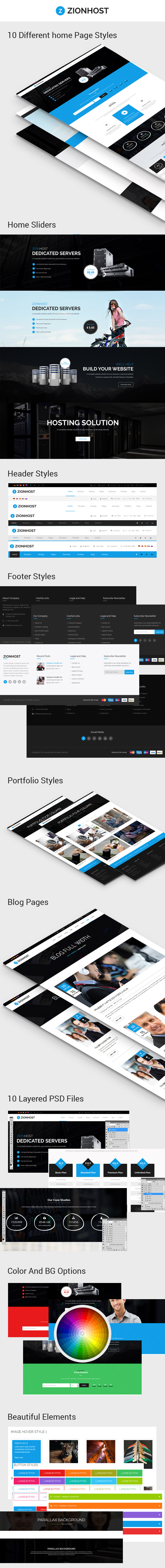 ZionHost - Web Hosting, Responsive HTML5 Template