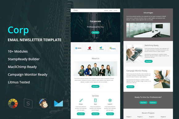 Corp- Responsive Email Template