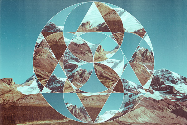 Create Abstract Geometric Photo Collage Art