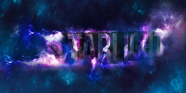 How to Create 3D Star Light Text Effect