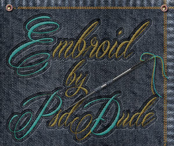 How to Create Sewing Embroidery Effect In Photoshop