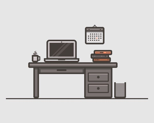 How to Create a Desk Scenery Illustration Using Adobe Illustrator