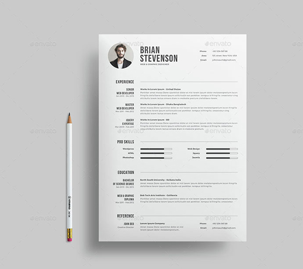 "Resume/CV "" is the creative, clean, modern and professional resume ..."