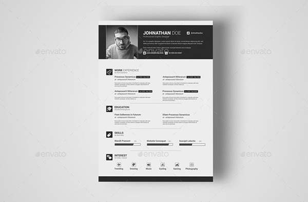 Simple & Clean Resume With MS Word