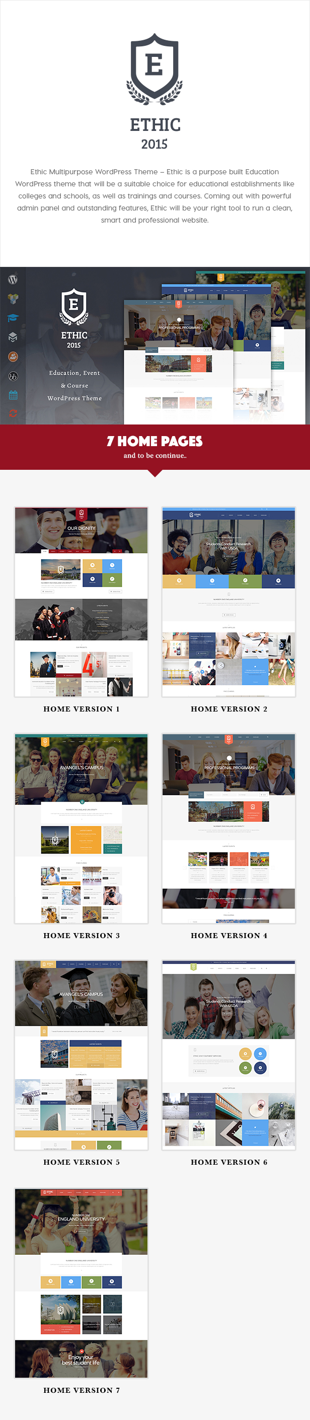 Education, Event and Course - ETHIC LMS Theme