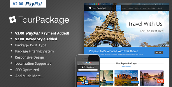 Tour Package - Wordpress Travel-Tour Theme
