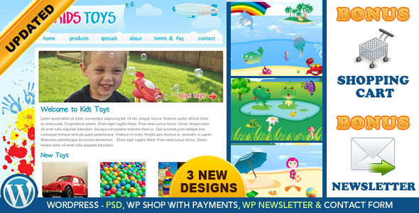 Kids Toys - WordPress Shop Theme