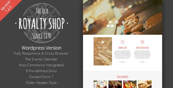Royalty Shop - Restaurant WordPress Theme