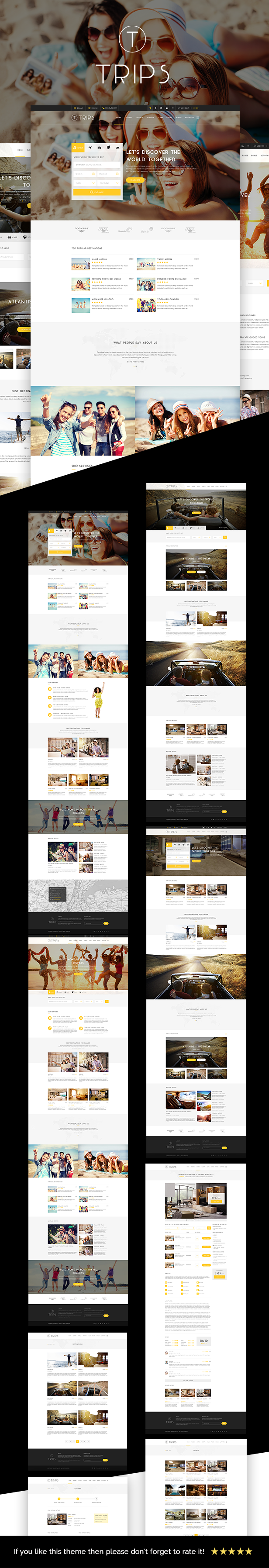 Trips - Travel Hotel Booking WordPress Theme