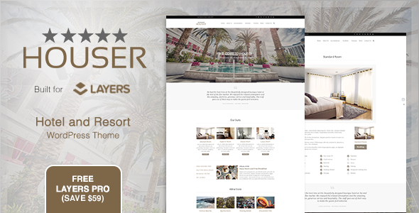 Houser - Hotel and Resort Layers WordPress Theme