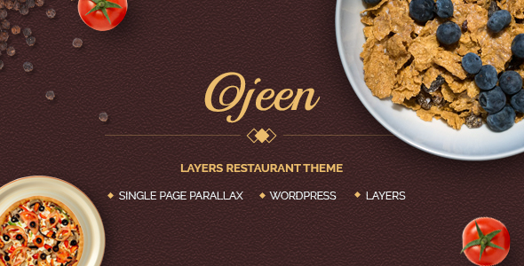 Ojeen - Layers Restaurant WordPress Theme