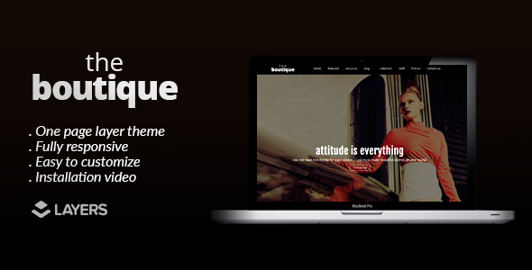The Boutique - Layers One Page WordPress Theme