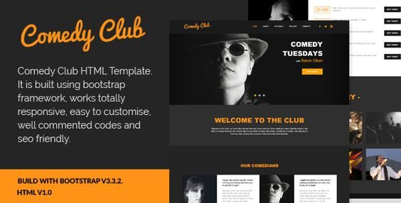 Comedy Club - Entertainment Club HTML Template