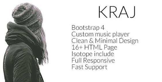 Kraj – Music Band HTML Template