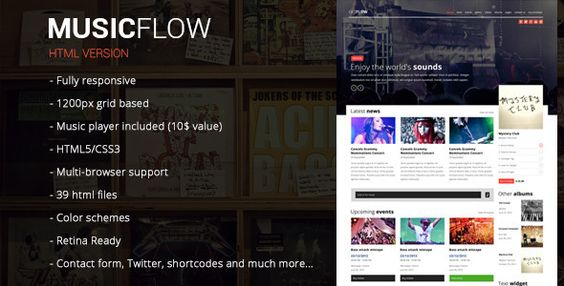 MUSICFLOW - Complete Entertainment Template