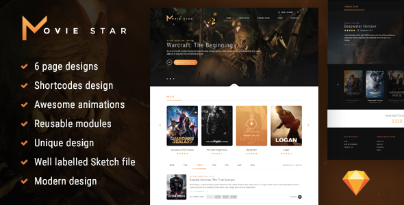 Movie Star - Cinema HTML template