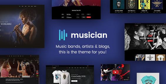Musician - Music Band, Blog, Shop HTML Template