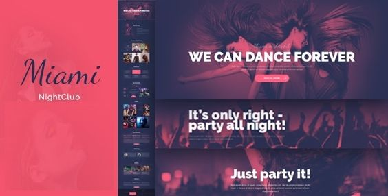 Night Club - Disco Night Club HTML - CSS Miami