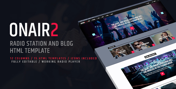 ON AIR 2 - Radio Station HTML website template