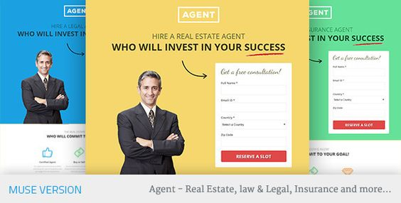 Agents Muse Landing Page Template
