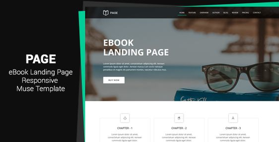 Page - EBook Landing Page Muse Template